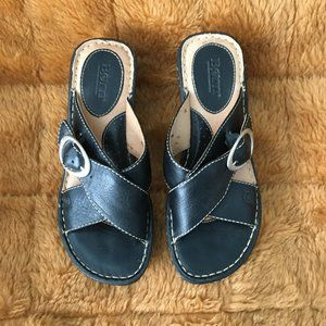 Born Black Wedge Sandals - Size 7